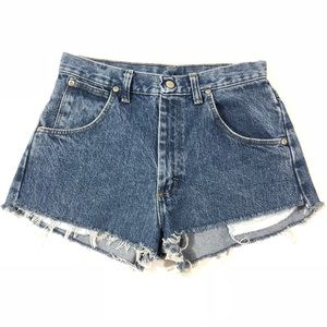 Vintage Wrangler Cutoff Blue Jean Shorts Waist 27